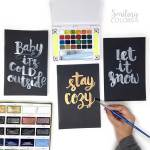 Watercolor lettering on black paper: what you need and an easy how to video