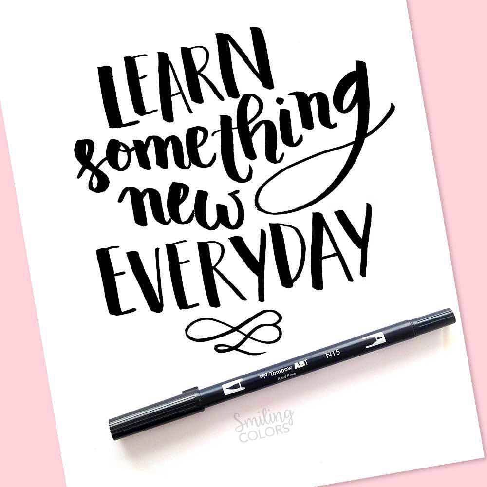 brush pen tutorial tombow