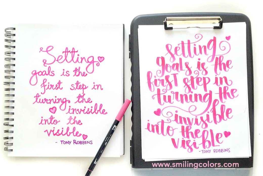 brush pen lettering youtube video