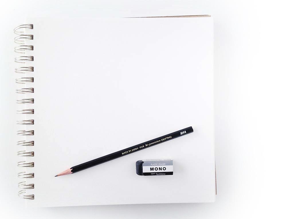 blank sketchbook happy art
