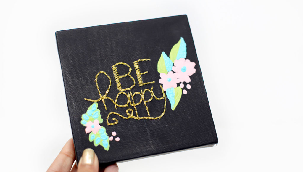 Smitha Katti lettering with embroidery