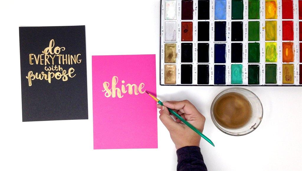 Smitha Katti lettering with paint