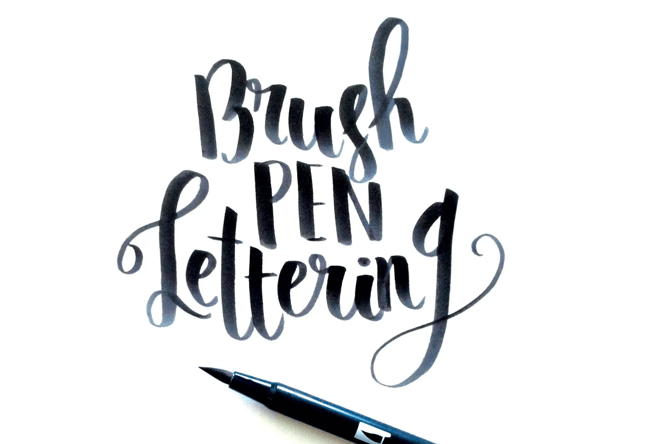 Brush Calligraphy Introducing My New Brush Pen Lettering