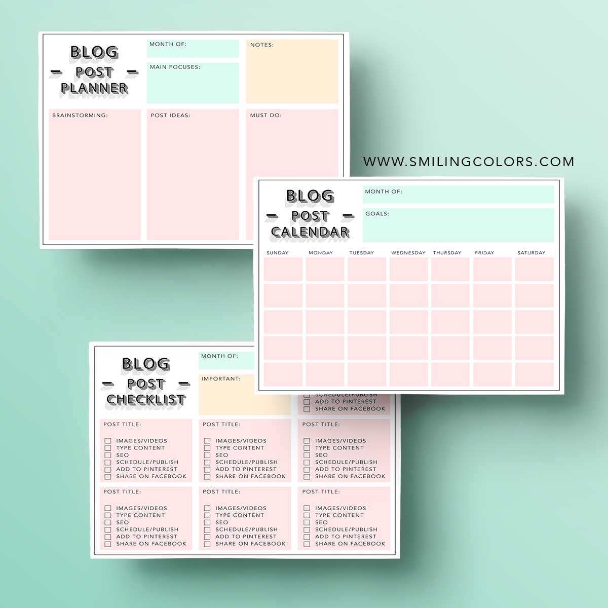 FREE blog planner printables to help you get organized