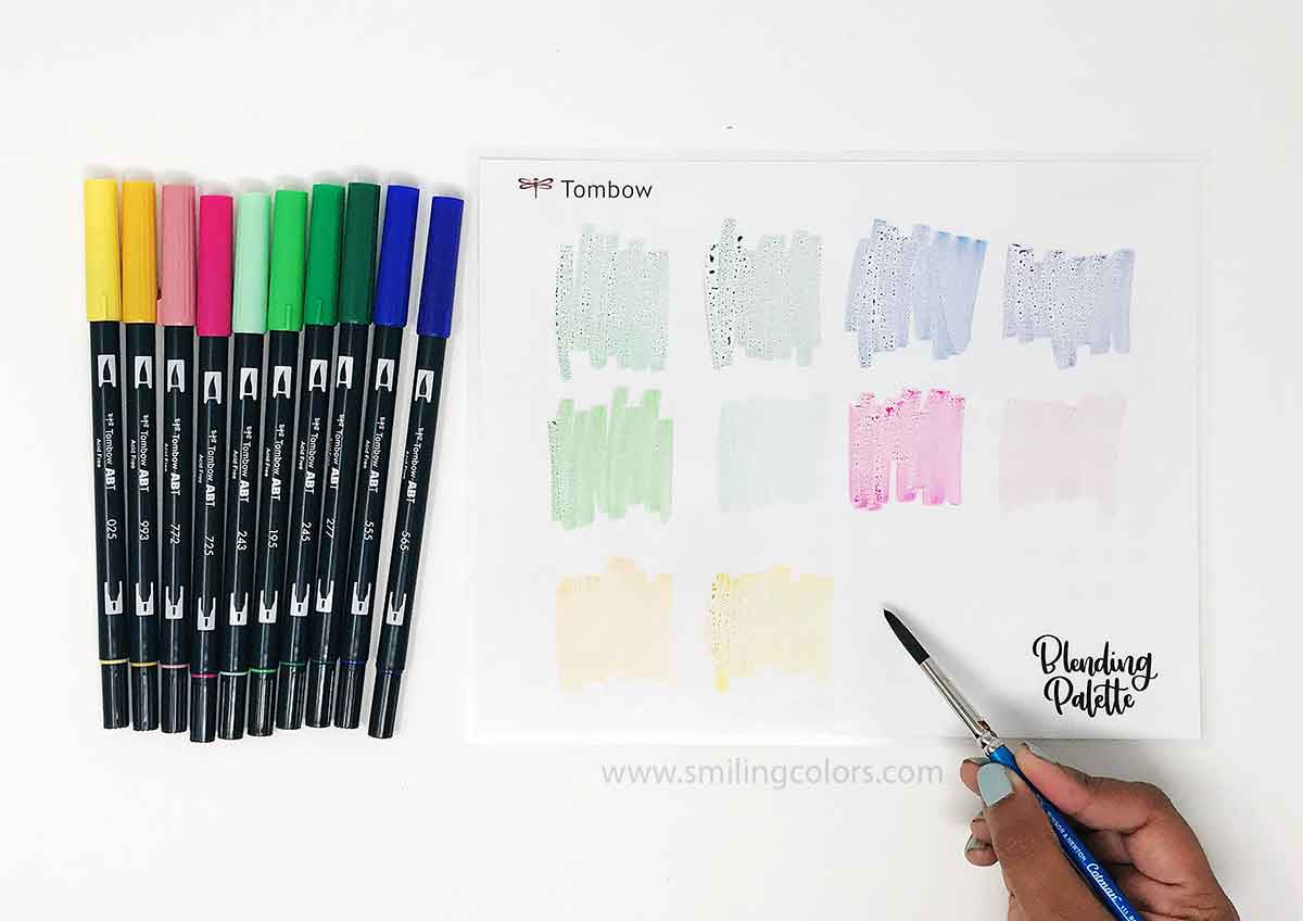 Ways To Watercolor With Tombow Markers Smitha Katti - Tombow abt markers
