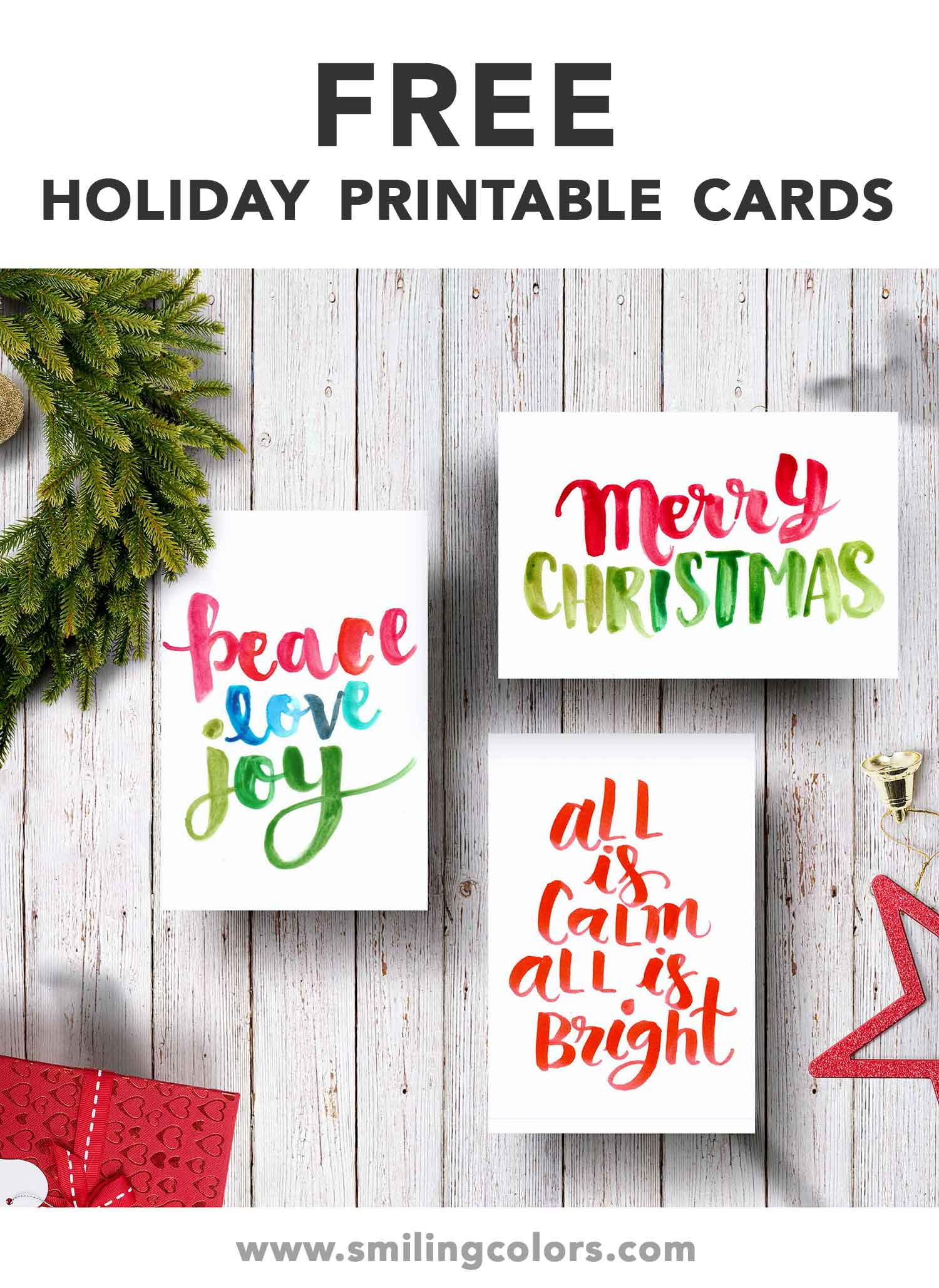 photograph about Free Printable Photo Christmas Cards named Free of charge printable family vacation playing cards that yourself can obtain and print Previously