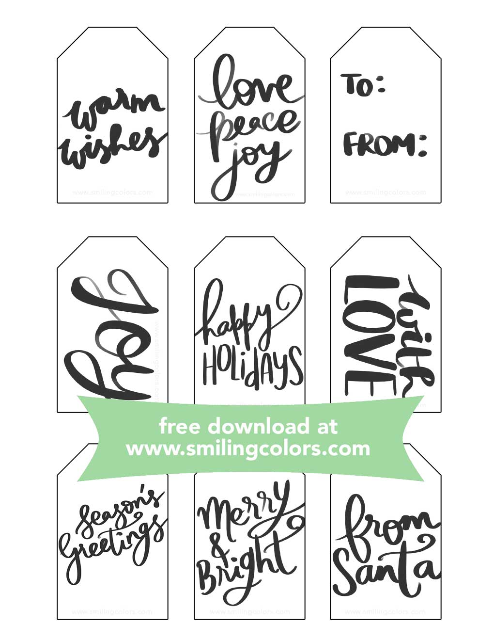 photo relating to Holiday Tags Printable named Printable Trip present tags, Absolutely free towards obtain by now - Smitha Katti