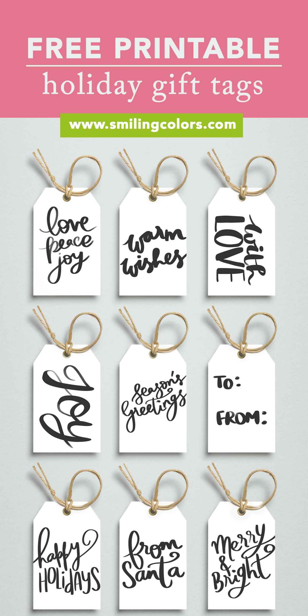 printable holiday gift tags free to download now smitha katti