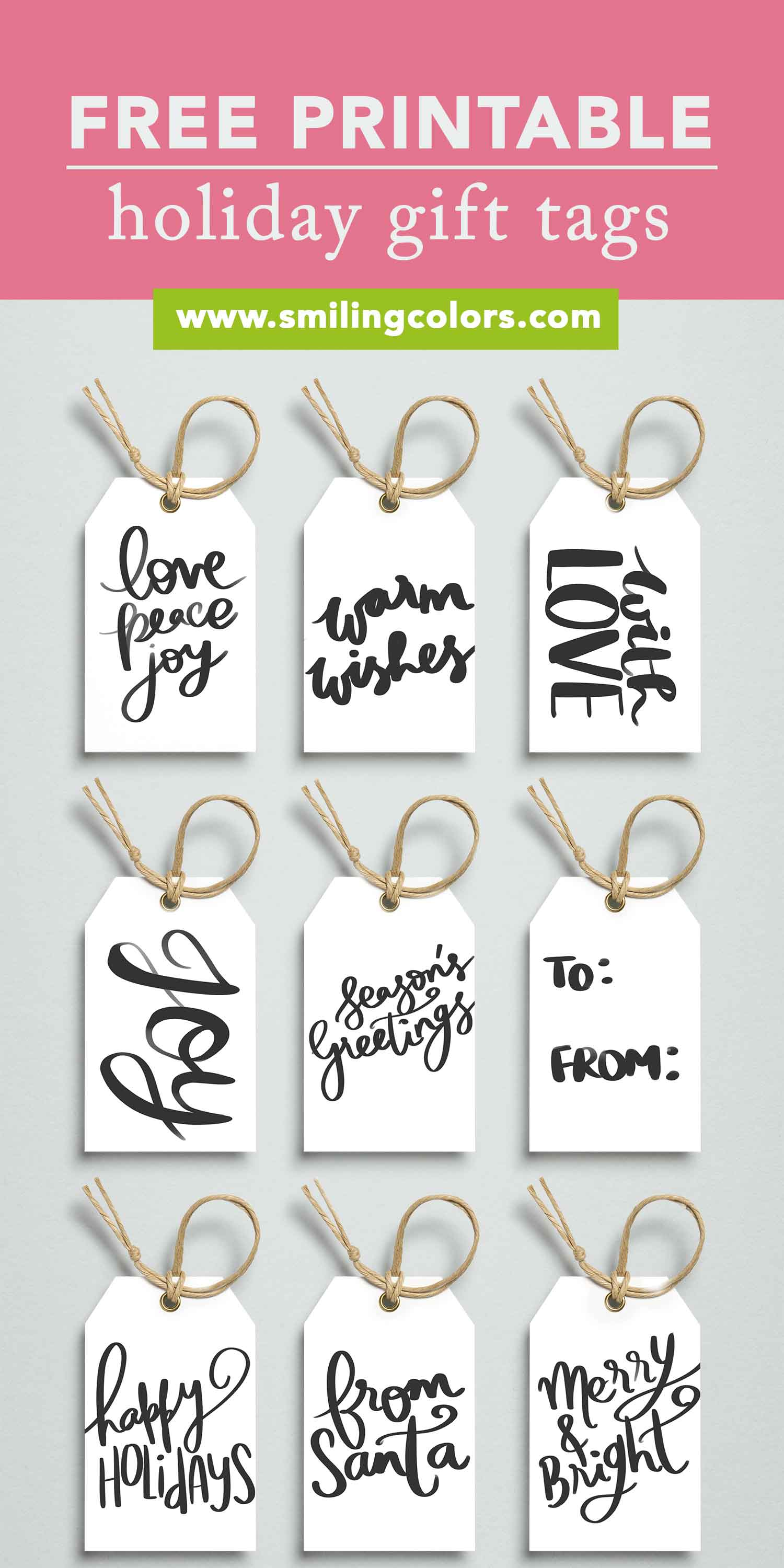 graphic relating to Printable Holiday Gift Tags identified as Printable Holiday vacation present tags, Absolutely free in direction of down load by now - Smitha Katti