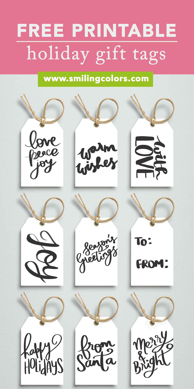 Printable Holiday Gift Tags Free To Download Now Smitha Katti