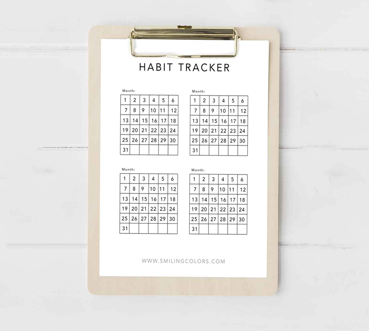 image about Habit Tracker Printable Free called Every month routine tracker printable - Smitha Katti