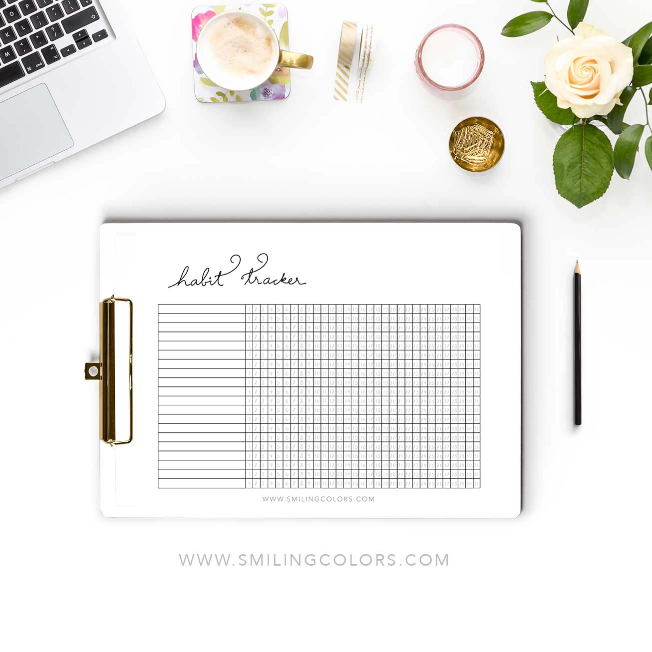Monthly Habit Tracker Printable For Your Planners And Goal Tracking