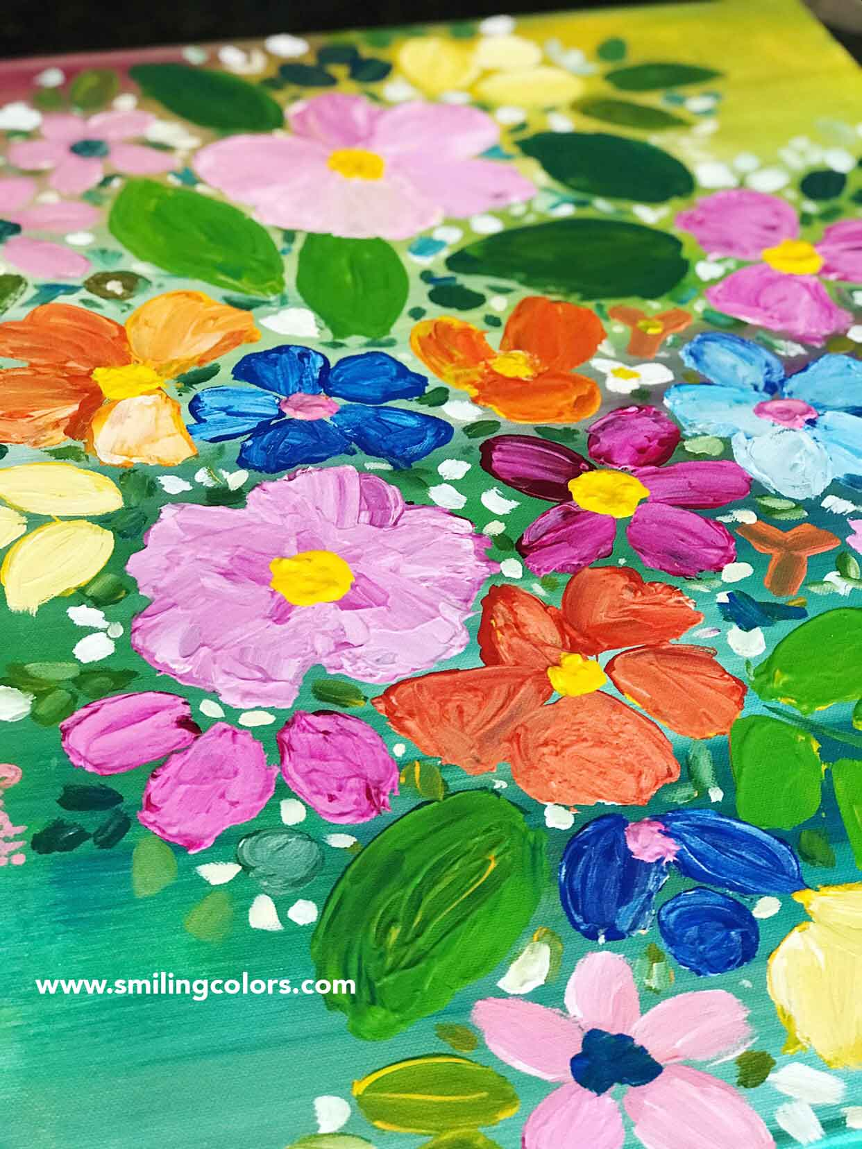 Pictures of flowers to paint easy