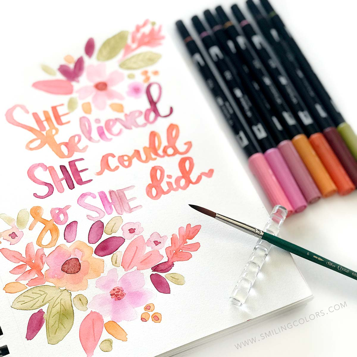 Watercolor Quote Art Step By Step Tutorial For Your Sketchbook