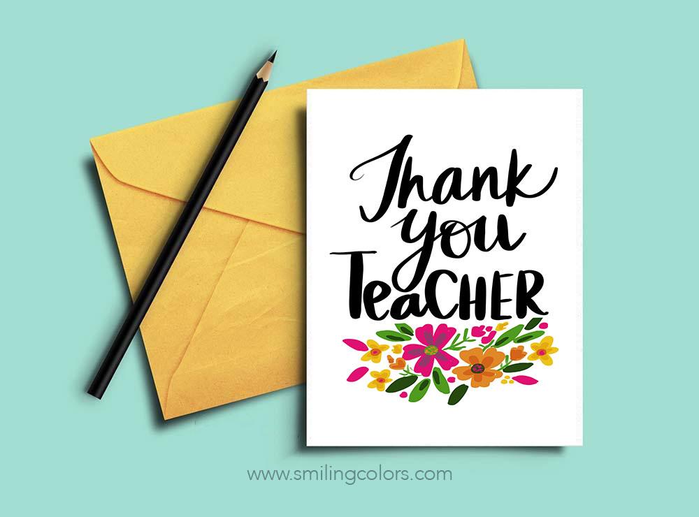 Thank You Teacher A Set Of 3 Free Printable Note Cards Smitha Katti