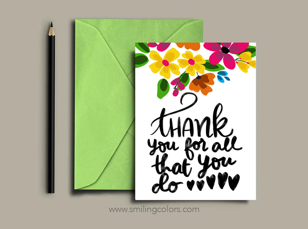 picture about Printable Cards for Teachers identified as Thank your self instructor: A fixed of No cost printable notice playing cards