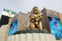 Lion statue at Hotel MGM