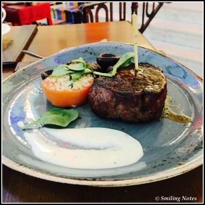 Steak at Gordon's pub and grill