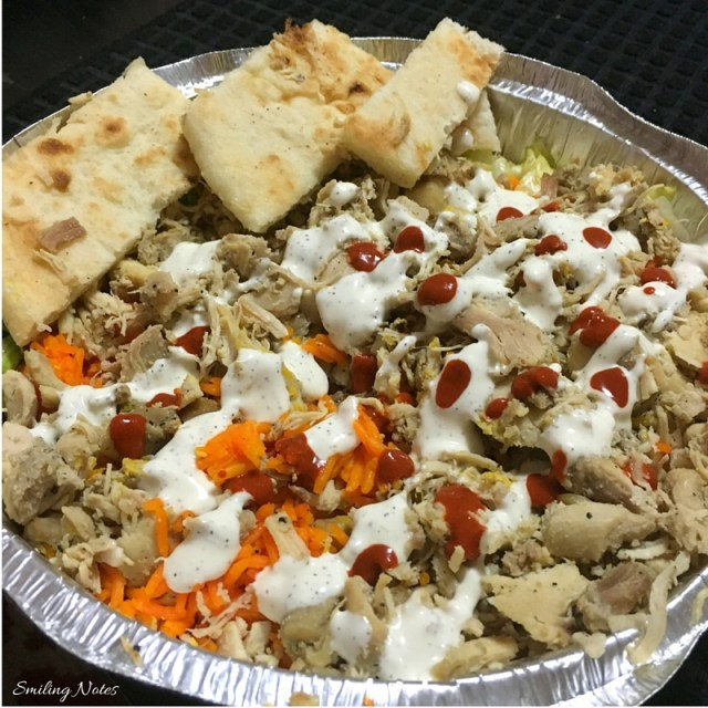 halal guys chicken over ice