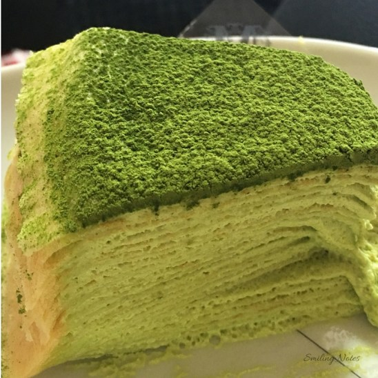 Green Tea Milles Crepes Cake at Lady M Boutique, NYC