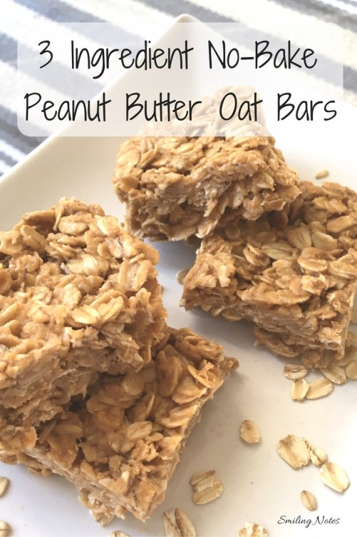 3 Ingredient No-Bake Peanut Butter Oat Bars - These 3-Ingredient No-Bake Peanut Butter Oat Bars are perfect as an after school or as an after work treat!