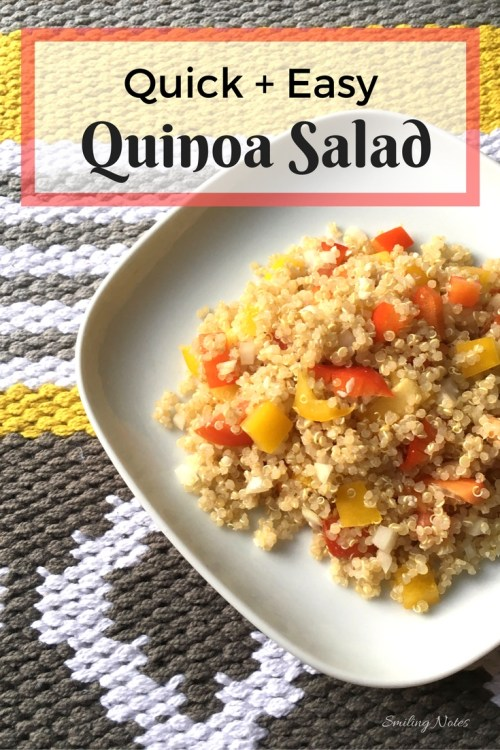 Quick and Easy Quinoa salad that will brighten up those dull summer days!