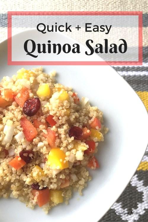 SuperQuick and Easy Quinoa Salad