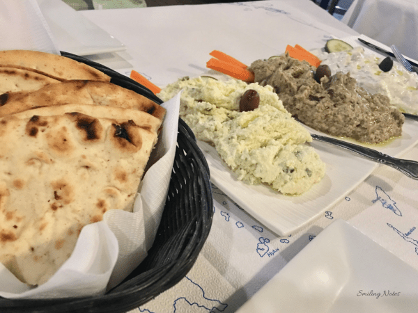 Greek spread with Pita