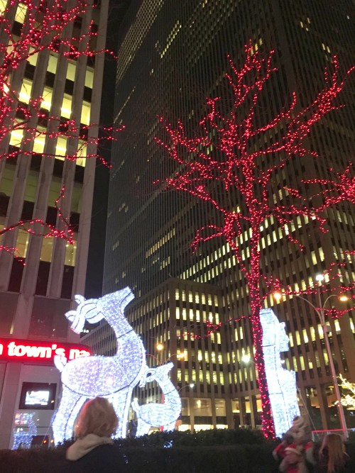 Christmas lights in New York city