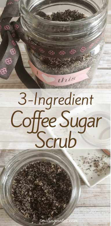 3 Ingredient coffee sugar scrub