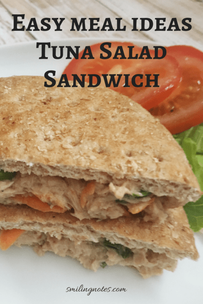 Easy Meal Ideas - Tuna Salad Sandwich