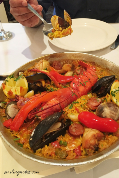 Seafood Paella at Marbella Restaurant in Queens, New York