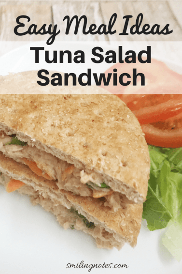 Tuna Salad Sandwich - easy and quick meal ideas