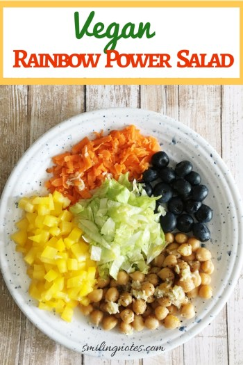 Vegan Rainbow Power Salad - power bowl filled with protein and antioxidants!