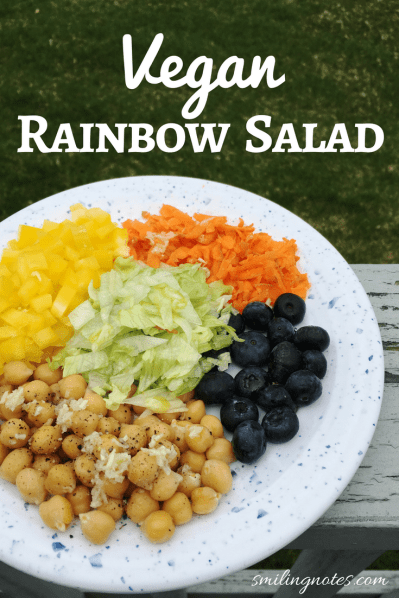 Vegan rainbow salad