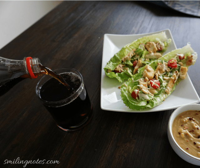 Chicken Lettuce wraps with Coca-Cola #ad
