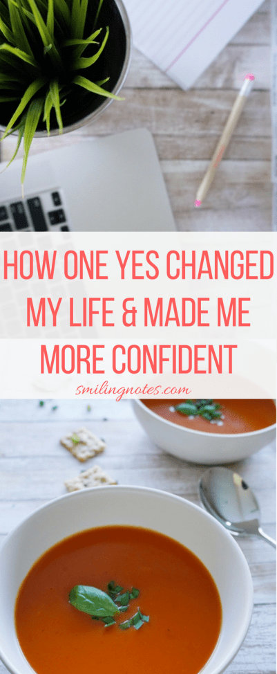 How one yes Changed my life and made me more confident in life #wellyesmoment #ad