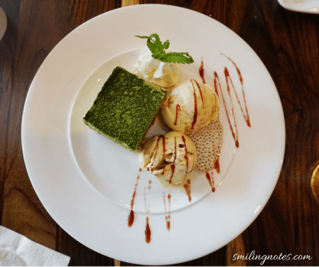 Matcha Ice Cream with Miso Ice cream at Amami Restaurant, Brooklyn New York