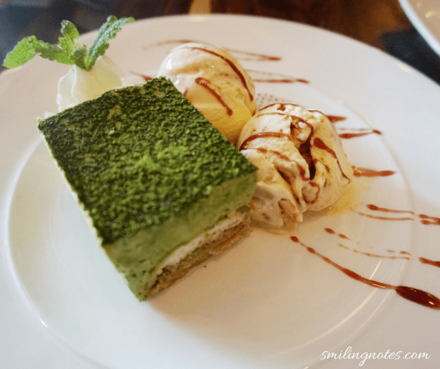 Matcha Tiramisu and Miso Ice Cream