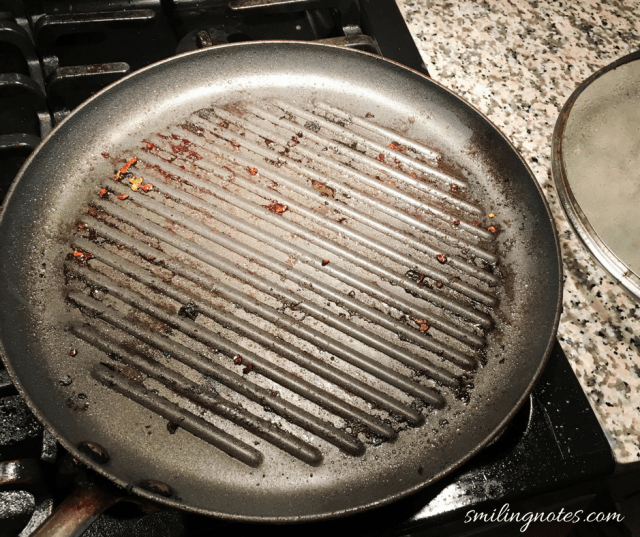 Cleaning Grill pan with Scotch Brite