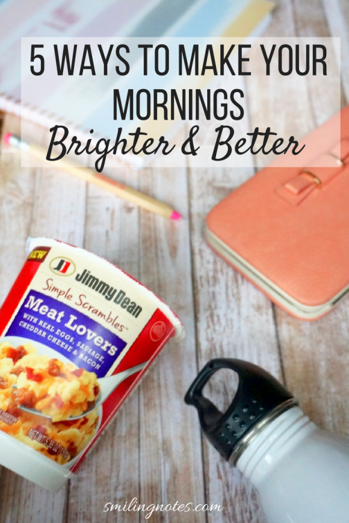 #Ad 5 Ways to Make Mornings Better and Brighter - Make sure you start your day on the right note by following some simple steps to jumpstart your mornings. #SimpleScramblesAtWM