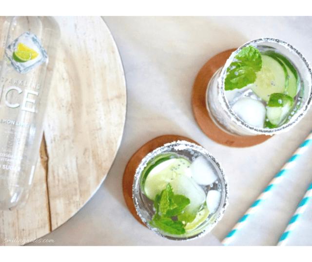 sparkling lime spritzer