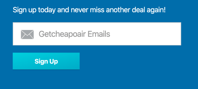 cheapoair sign up