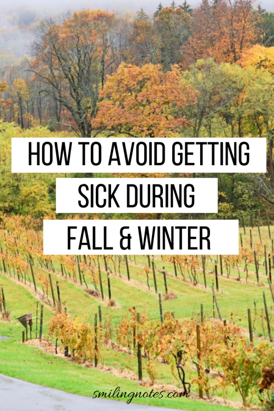 how to avoid getting sick during fall & winter