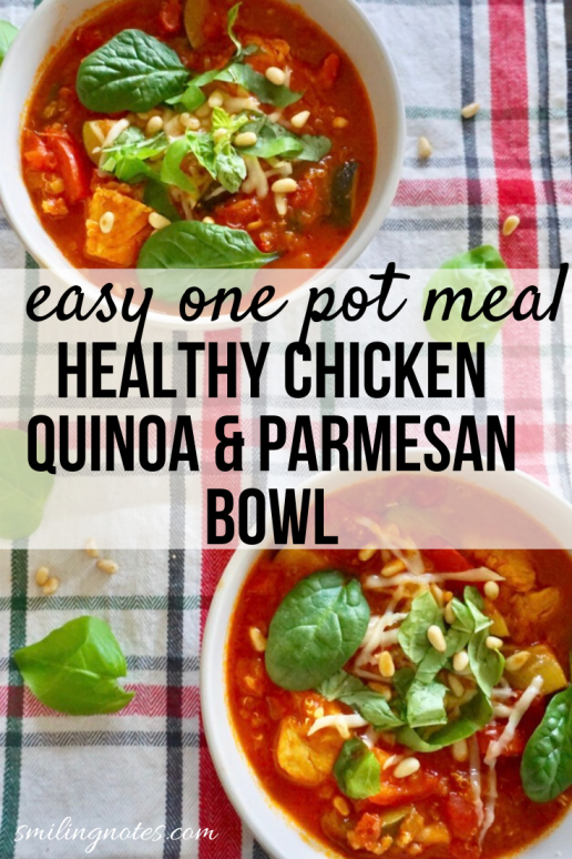 one pot healthy chicken quinoa & parmesan bowl - This delicious Chicken Quinoa & Parmesan Bowl is made in just one pot is a healthy & wholesome meal for the entire family.
