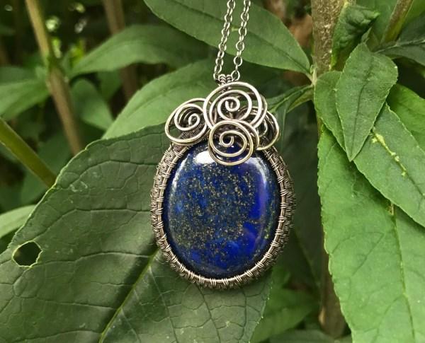 Eksklusiv lapis lazuli sølvhalskæde