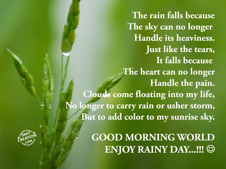 Rain Wallpaper With Quotes In Marathi Good Morning World Enjoy Rainy Day Smitcreation Com