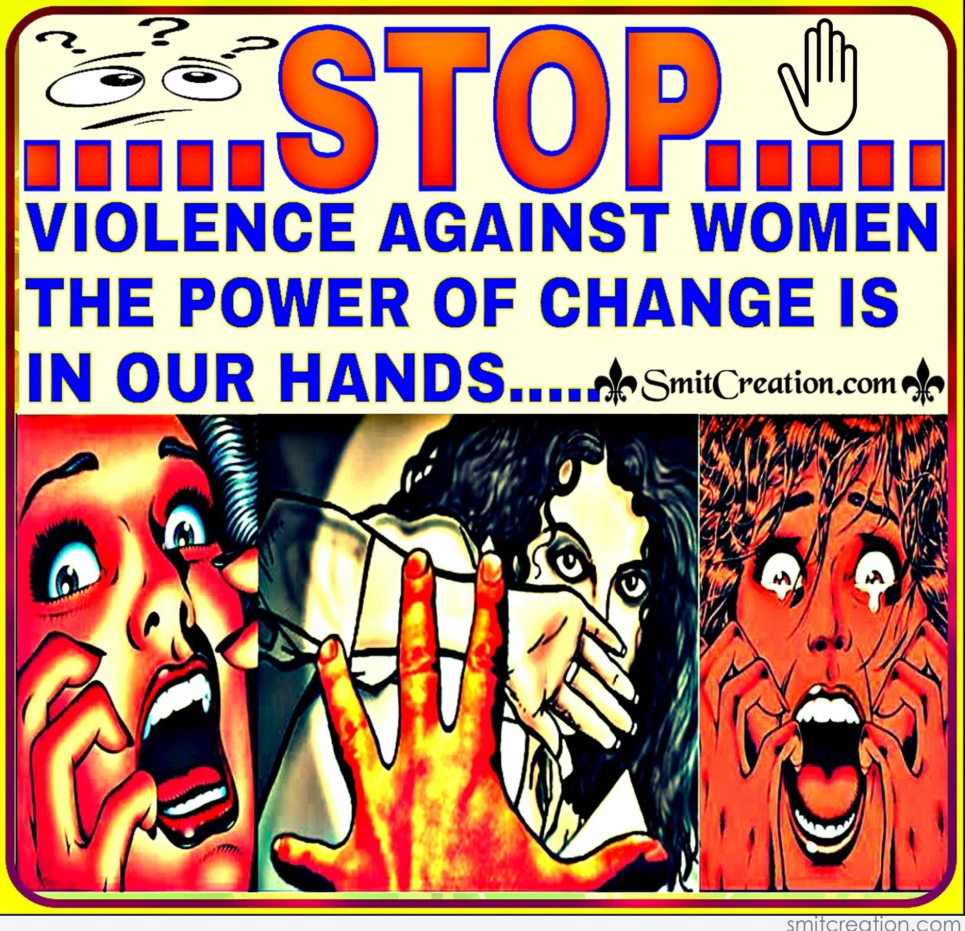 STOP VIOLENCE AGAINST WOMEN SmitCreation Com