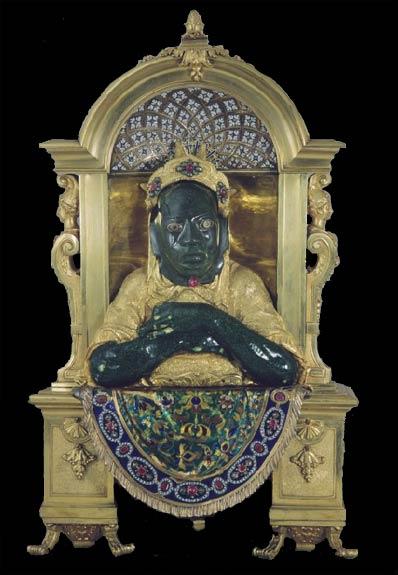Vistas Gallery Decorative Sculpture with Olmec Mask