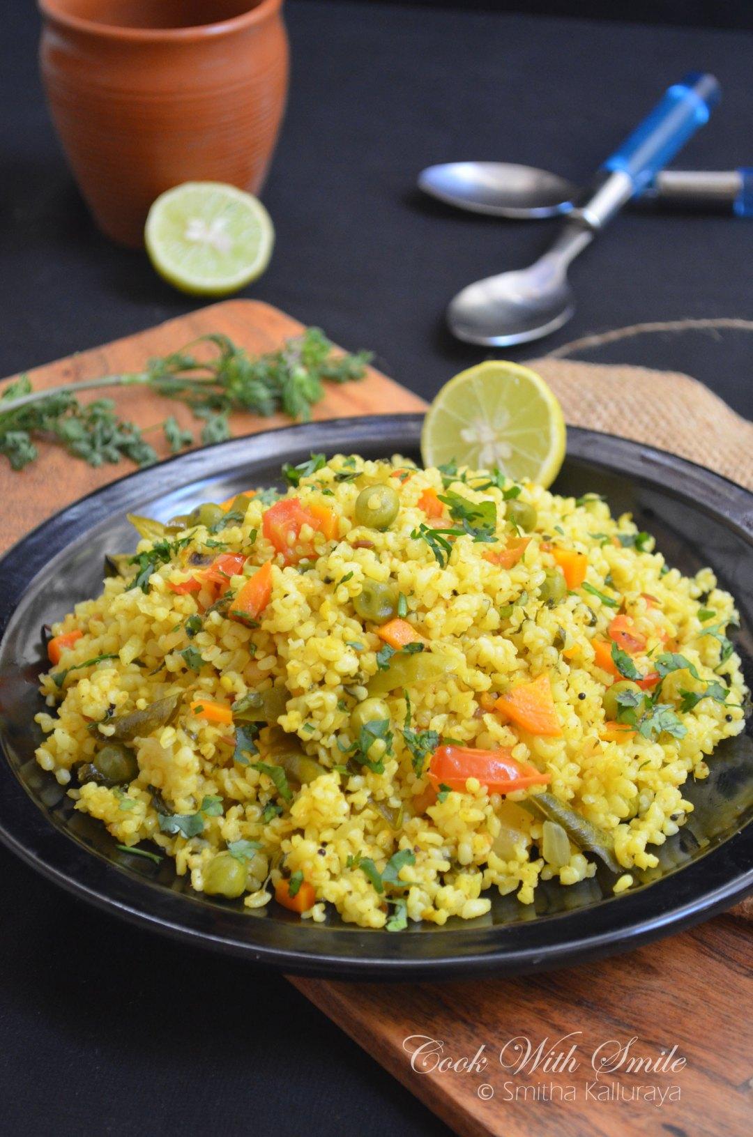 Dalia Upma recipe
